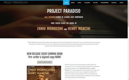www.projectparadiso.com Tony Foster plays Morricone and Mancini